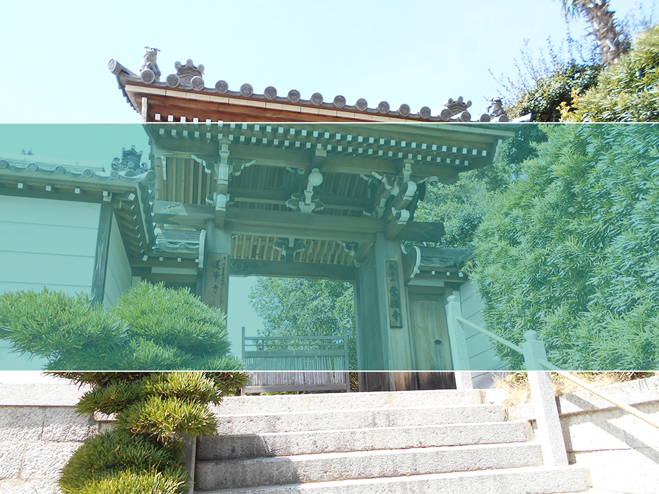常福寺墓地の墓地風景