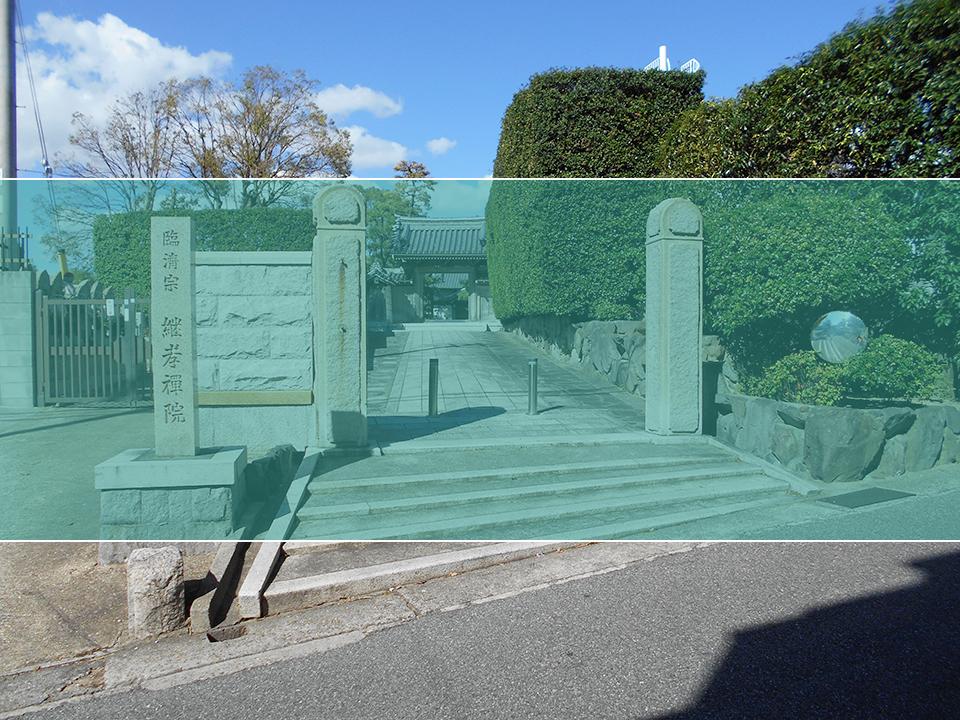 慶光寺墓地の墓地風景