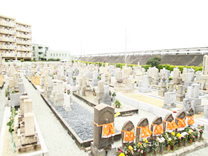 兵庫県西宮市にある上田霊園